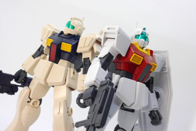 HGUCジムII・セミストライカー(ジム2セミストライカー)とジムIIの違い・比較ガンプラレビュー画像です