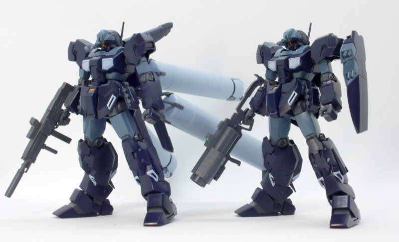 HGUCジェスタ シェザール隊仕様のA班とB,C班の比較・違いガンプラ画像です