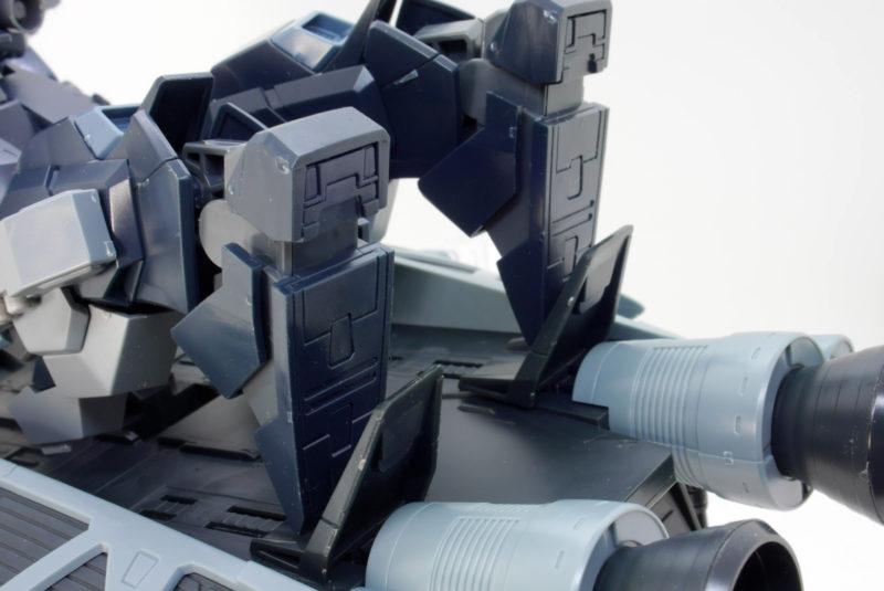 HGUCジェスタ・キャノンと89式ベースジャバーのガンプラレビュー画像です