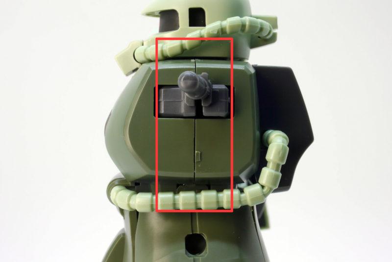 HGUC量産型ザクのガンプラレビュー画像です