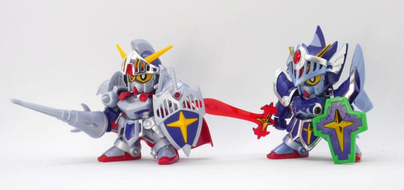 騎士ガンダムとフルアーマー騎士ガンダムの比較・違いのガンプラレビュー画像です