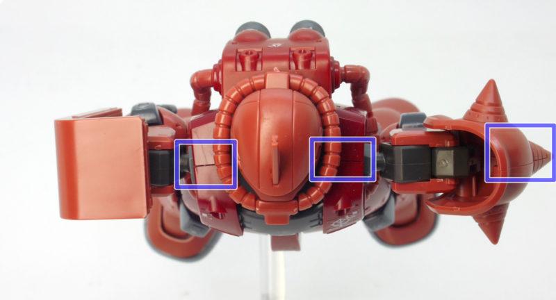 HGシャア専用ザクII(ザク2・オリジン版)のガンプラレビュー画像です