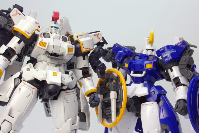 RGトールギスとトールギス2の違い・比較ガンプラ画像です