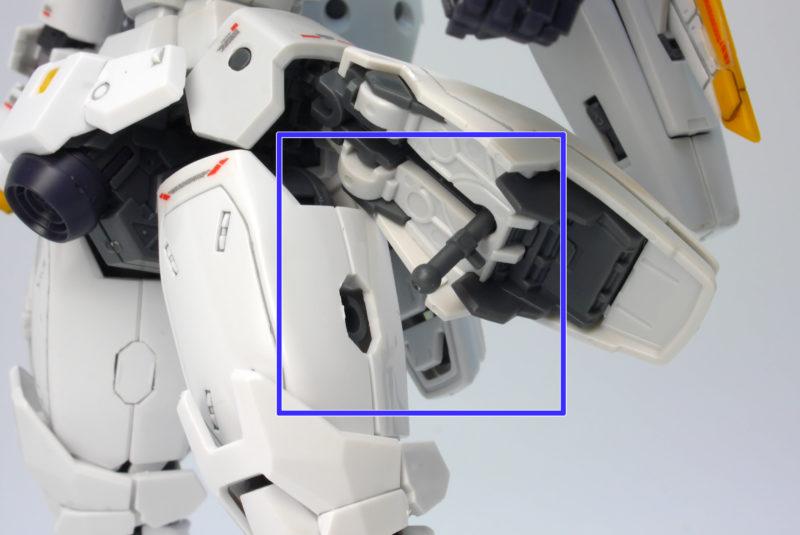 RGトールギスの脚接続の画像です