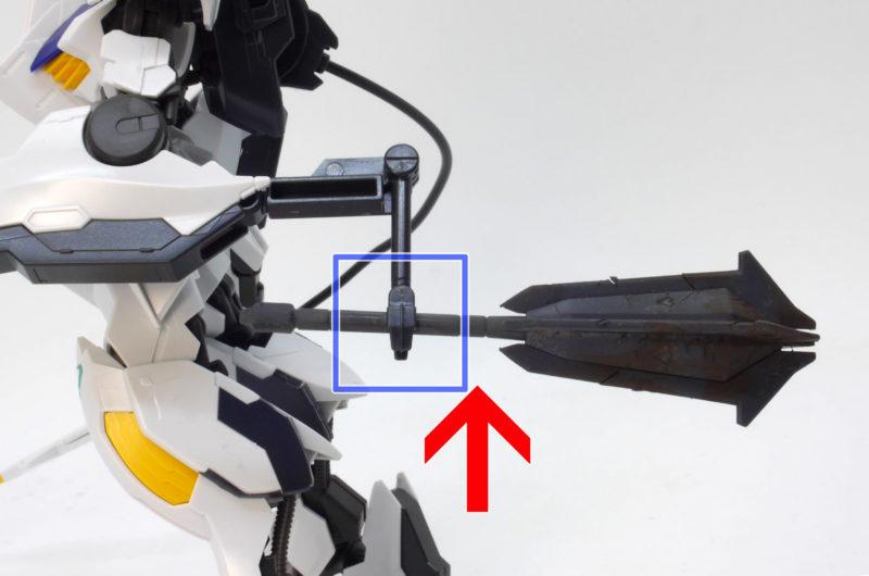 HGガンダムバルバトスルプスレクスのガンプラレビュー画像です