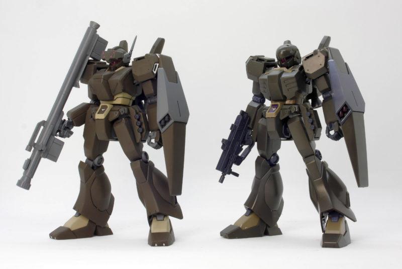 HGUCジェガンD型(護衛隊仕様)とエコーズ仕様の違い・比較ガンプラレビュー画像です