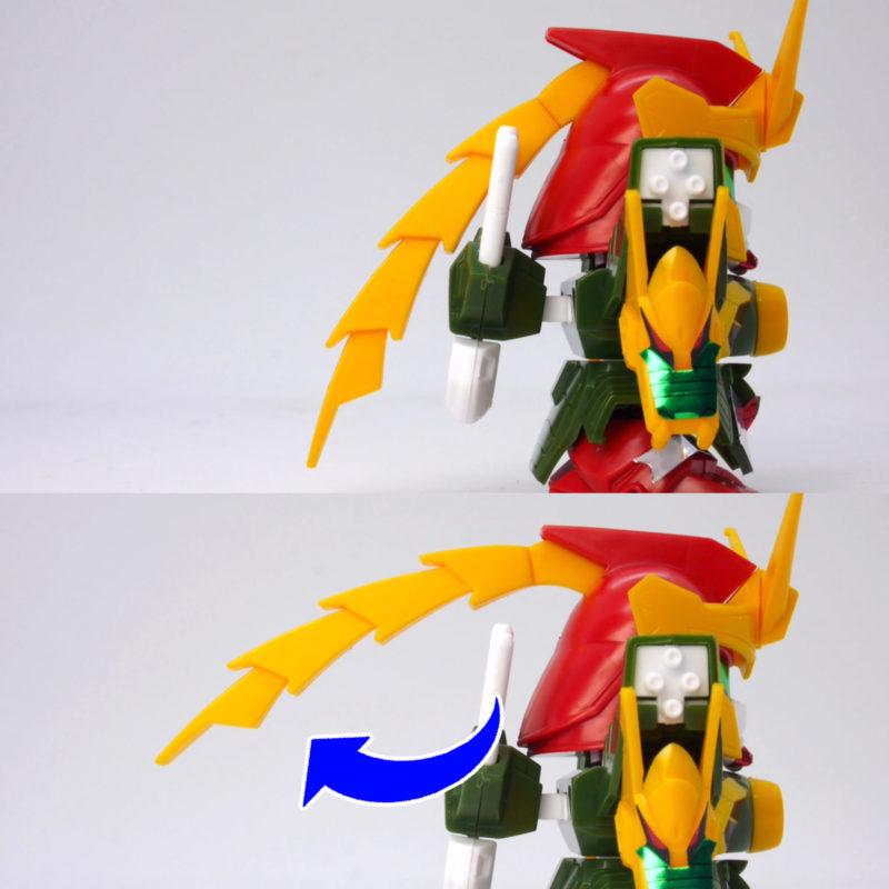 GジェネレーションのSDドラゴンガンダム(ドラゴンクローモード)のガンプラレビュー画像です
