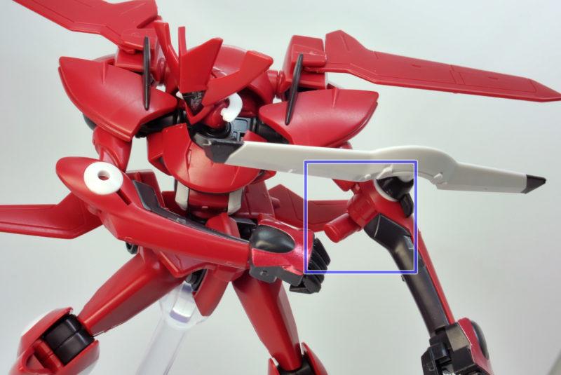 HGサーシェス専用AEUイナクトカスタム(アグリッサ型)のガンプラレビュー画像です