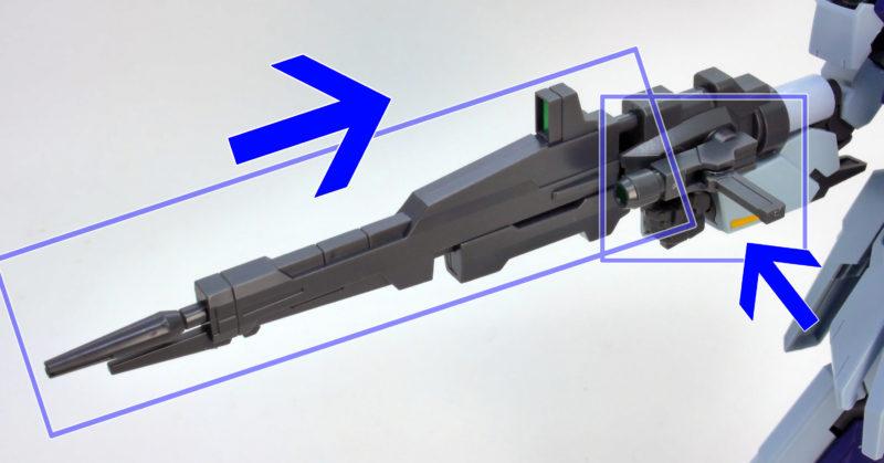HGBFライトニングガンダムのガンプラレビュー画像です