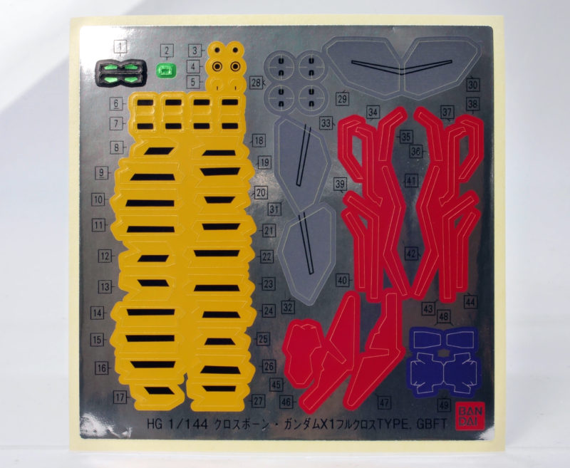 HGBFクロスボーンガンダムX1フルクロスType.GBFTのガンプラレビュー画像です