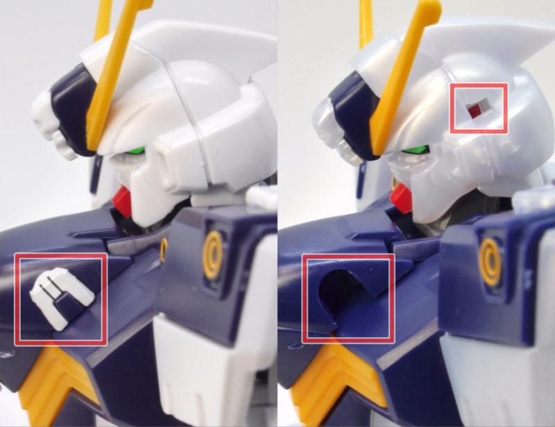 HGUCクロスボーンガンダムX1改・改とフルクロスの違い・比較のガンプラ画像です