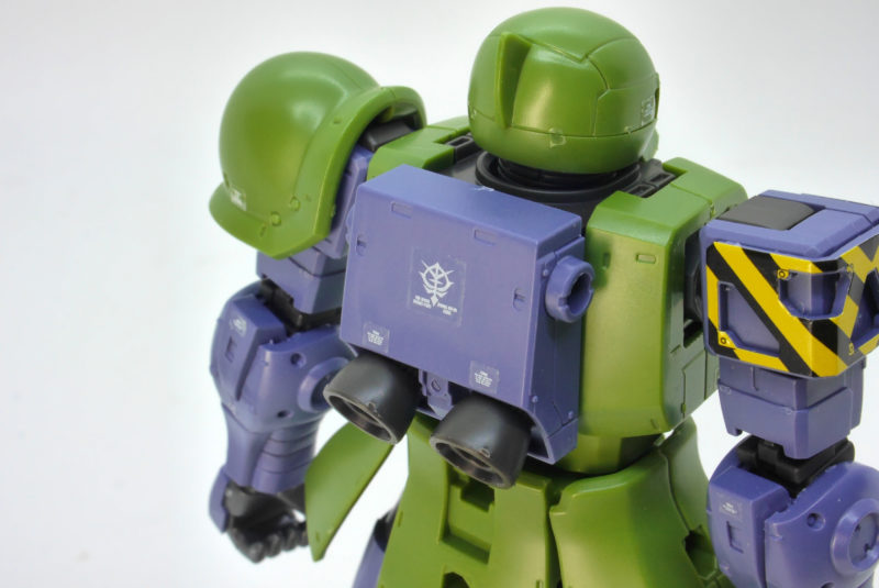 HGザクI(デニム/スレンダー機)のガンプラレビュー画像です