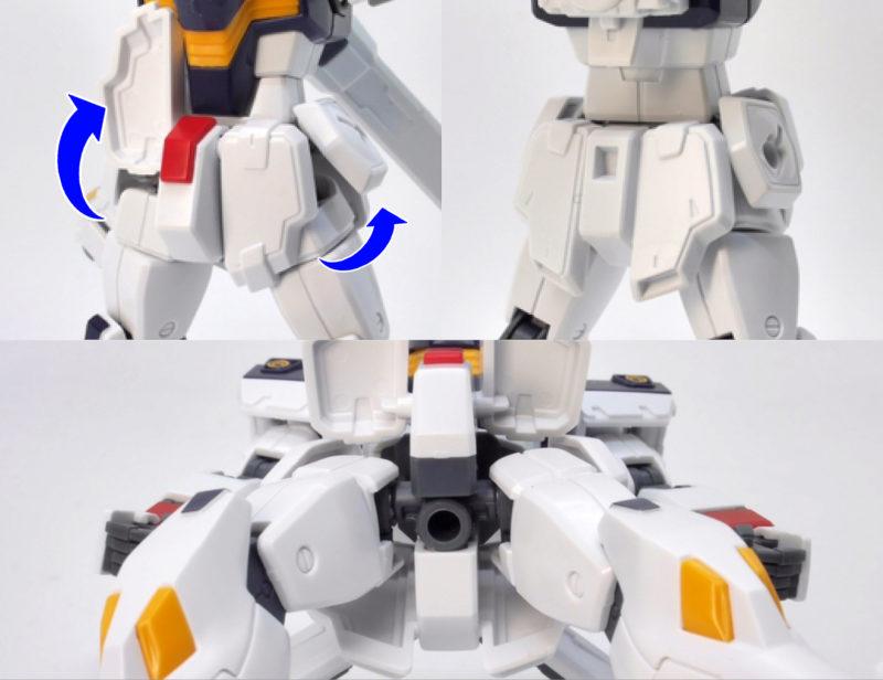 HGUCクロスボーンガンダムX1のガンプラレビュー画像です