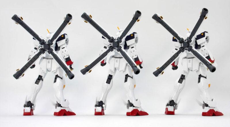 HGUCクロスボーンガンダムX1と改と改・改の違い・比較ガンプラレビュー画像です