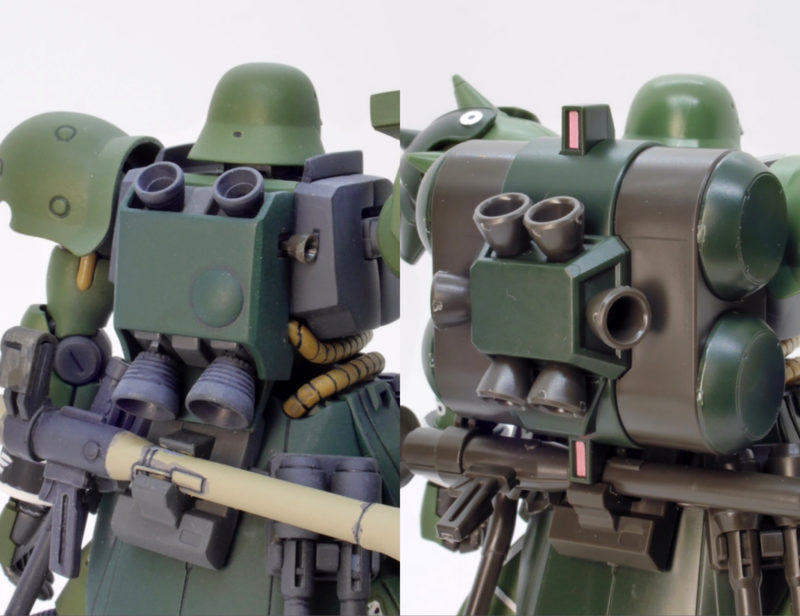 ギラ・ズール一般機と親衛隊仕様の違い・比較のガンプラレビュー画像です