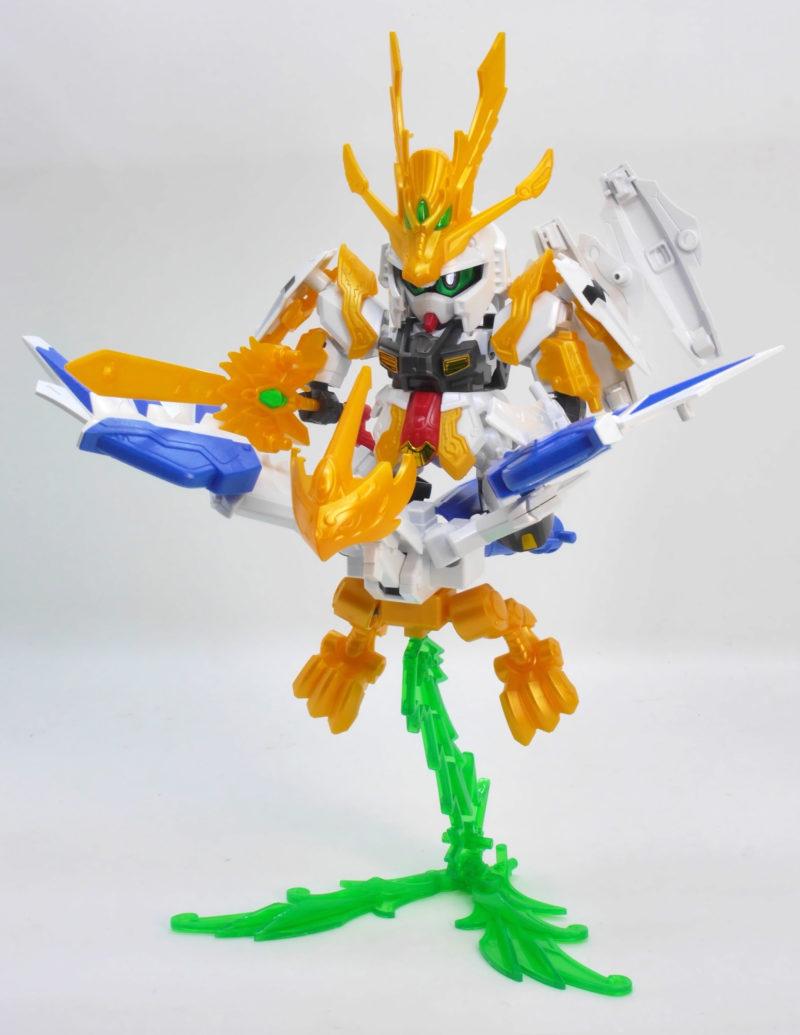 SD三国伝BB戦士天翔龍孔明ν(ニュー)ガンダムのガンプラレビュー画像です