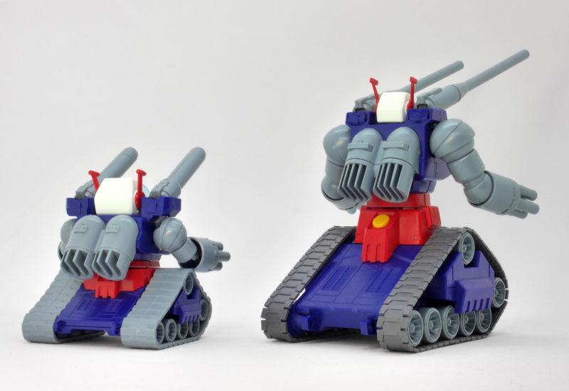 BB戦士ガンタンクとHGUCガンタンクの比較ガンプラレビュー画像です