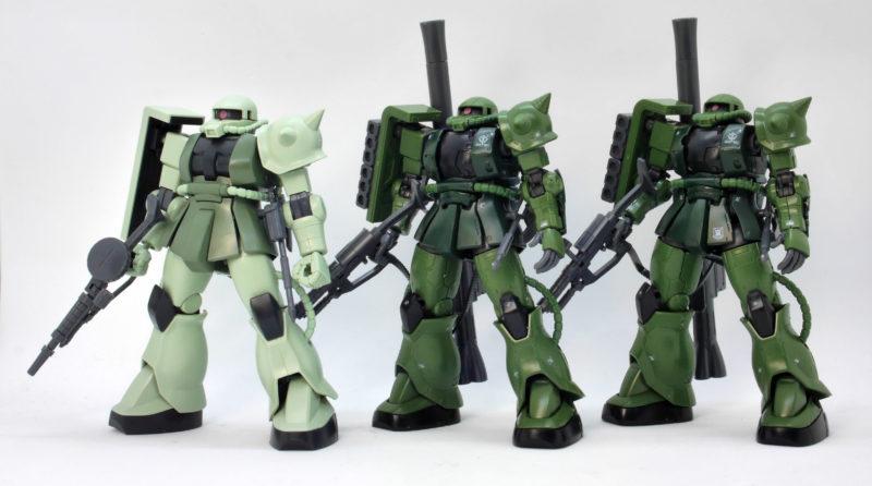 HG ザクII C-6/R6型の違い・比較ガンプラレビュー画像です