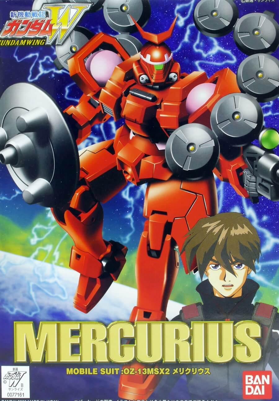 1/144メリクリウスのガンプラレビュー画像です