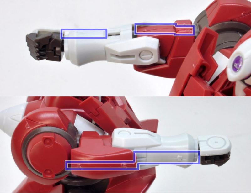 HGジンクス3(アロウズ型)のガンプラレビュー画像です