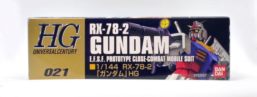 HGUC No.21 RX-78-2 ガンダムのガンプラレビュー画像です