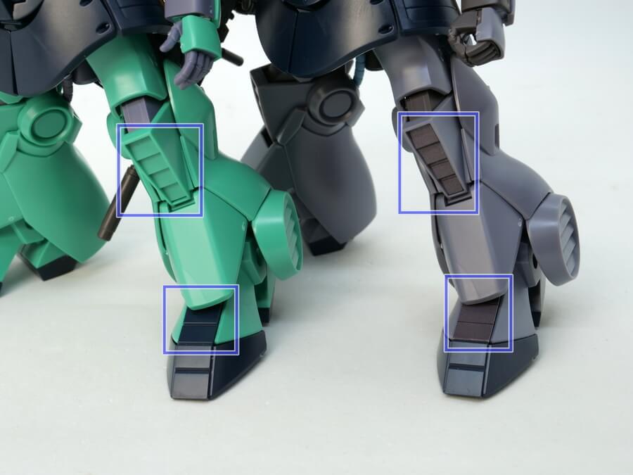 HGUCディジェとナラティブVer.の違い・比較画像です