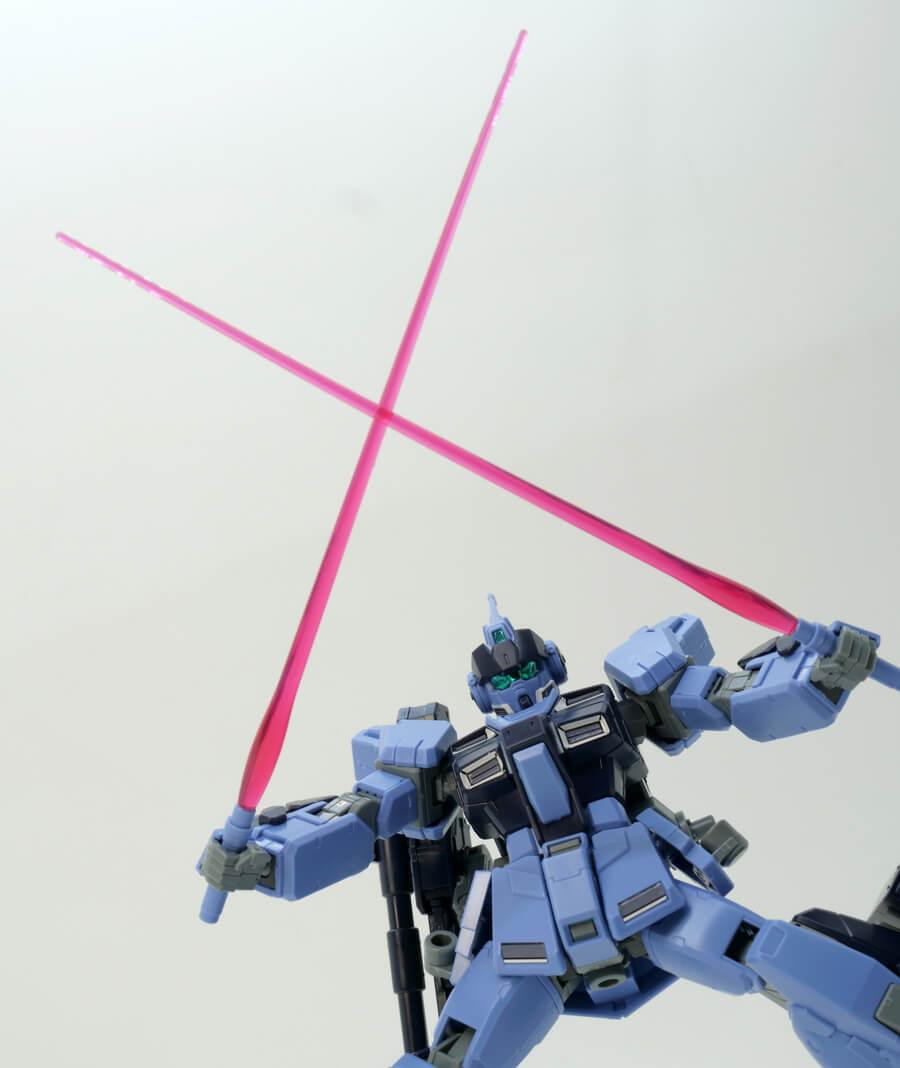 HGUCペイルライダー(陸戦重装備仕様)のガンプラレビュー画像です