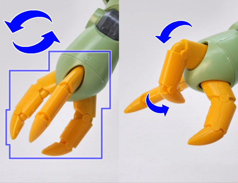 HGUCゾックのガンプラレビュー画像です