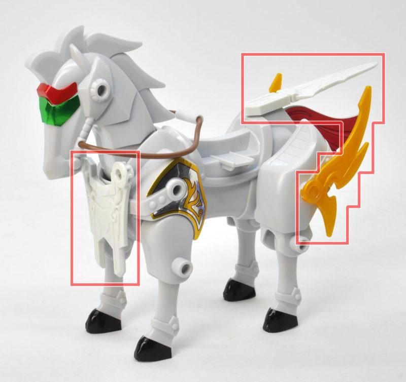 馬超ブルーディスティニーのガンプラレビュー画像です