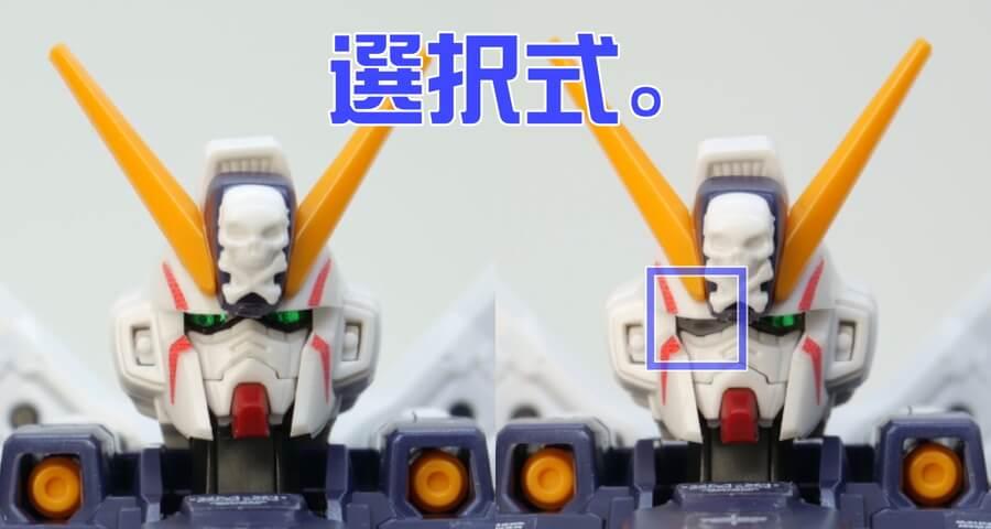 RGクロスボーン・ガンダムX1のガンプラレビュー画像です