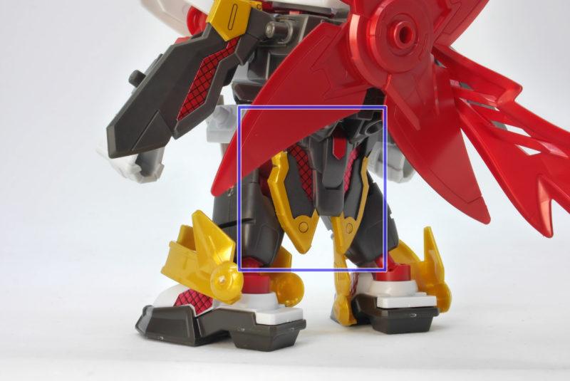 SDBD ガンダムベース限定 RX-零丸(獅子吼)のガンプラレビュー画像です