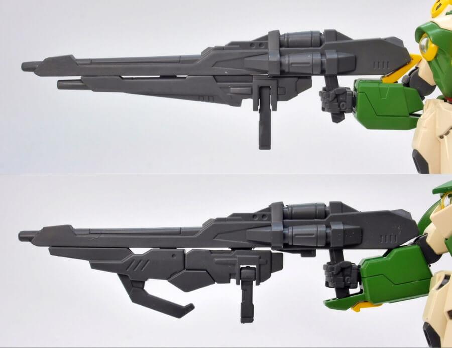 HGBFガンダムフェニーチェとリナーシタの違い・比較ガンプラレビュー画像です