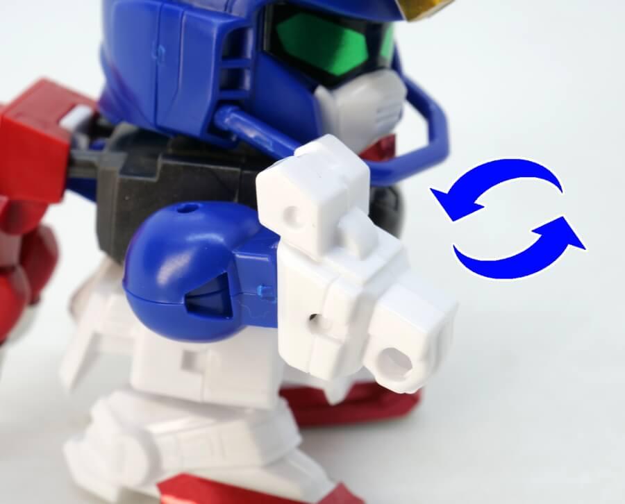 SDガンダムGジェネレーションのガンダムマックスター(ファイティングナックルモード)のガンプラレビュー画像です
