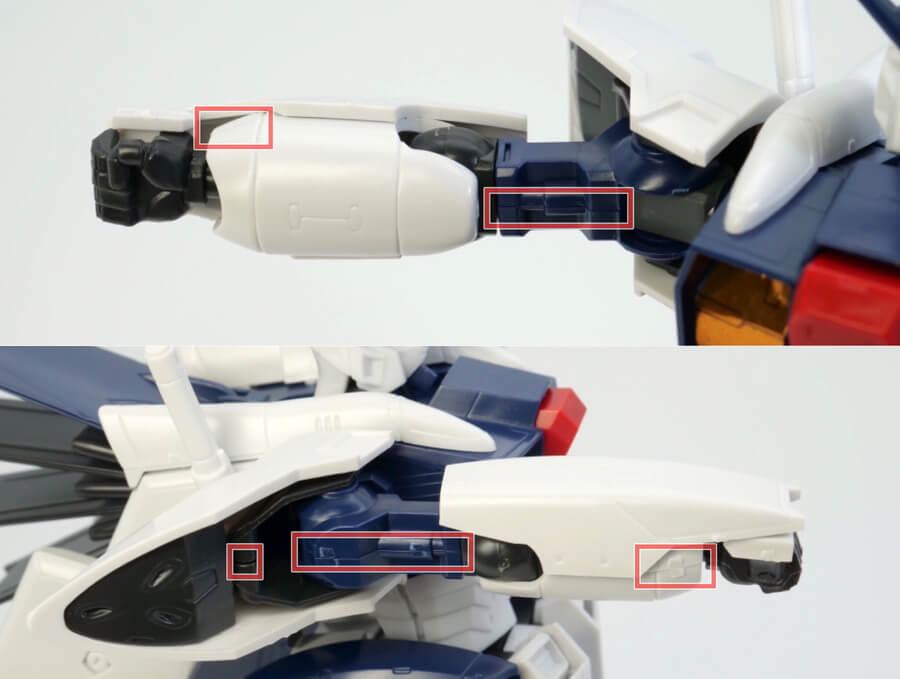 HG Gセイバー(無重力仕様)のガンプラレビュー画像です