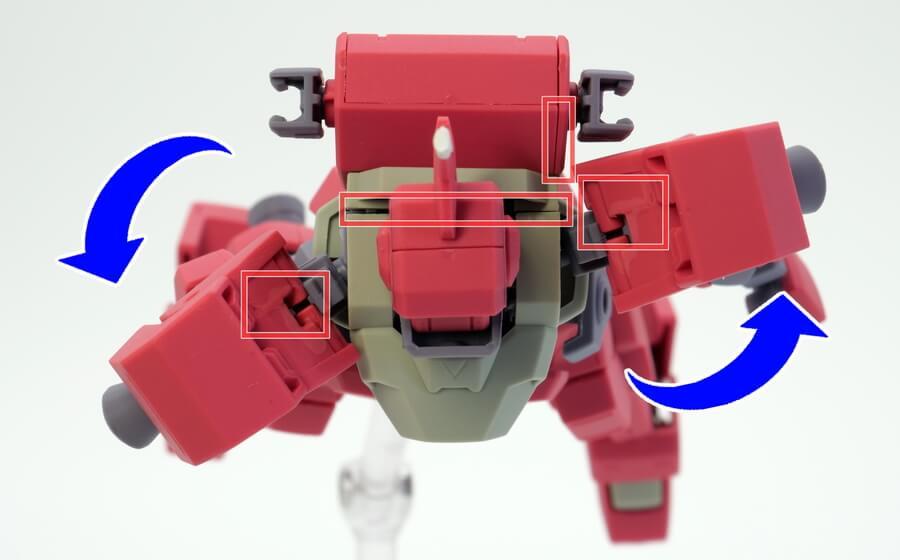 HG イオフレーム獅電改(流星号)のガンプラレビュー画像です