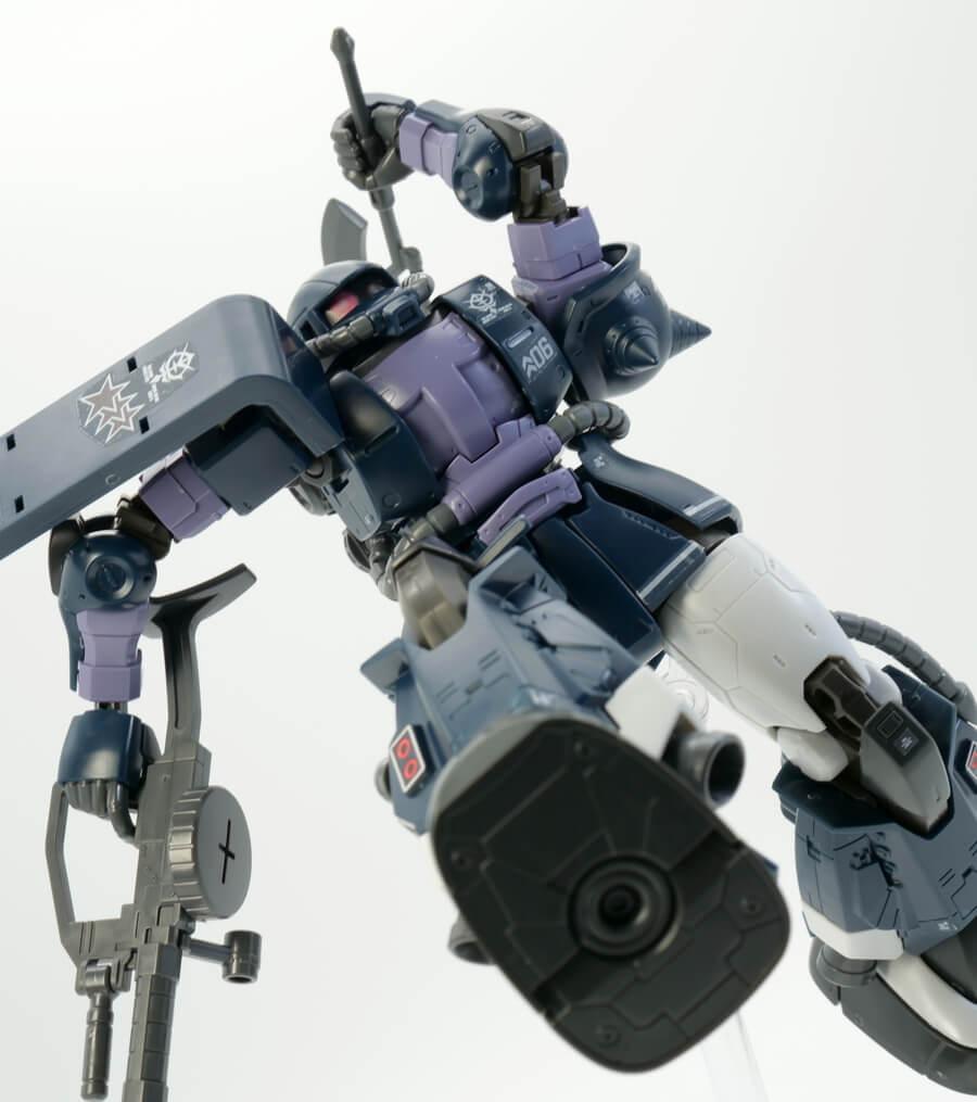 HG高機動型ザクIIオルテガ専用機のガンプラレビュー画像です