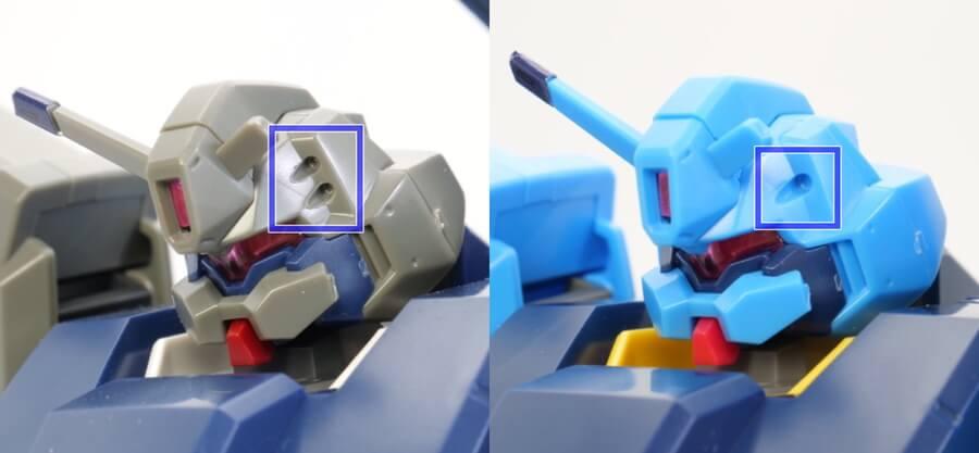 HGグスタフ・カールのユニコーンVerとギレンの野望Verの違い・比較ガンプラ画像です