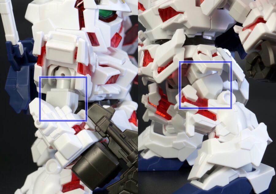 SDガンダム クロスシルエット ユニコーンガンダム(デストロイモード)のガンプラレビュー画像です