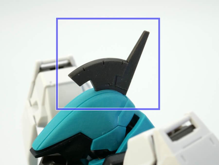 HGグレイズリッター(一般機)のガンプラレビュー画像です
