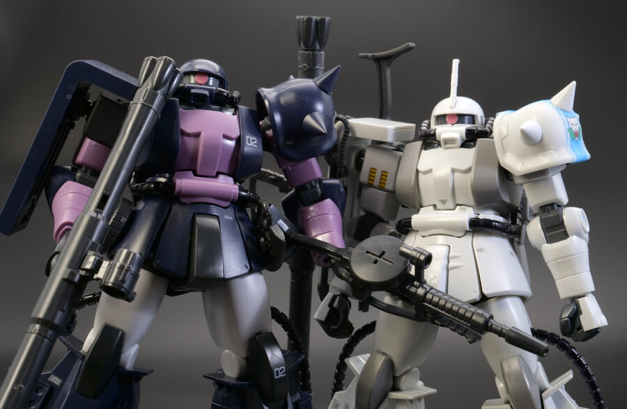 HGUC MS-06R-1A シン・マツナガ専用ザクのガンプラレビュー画像です