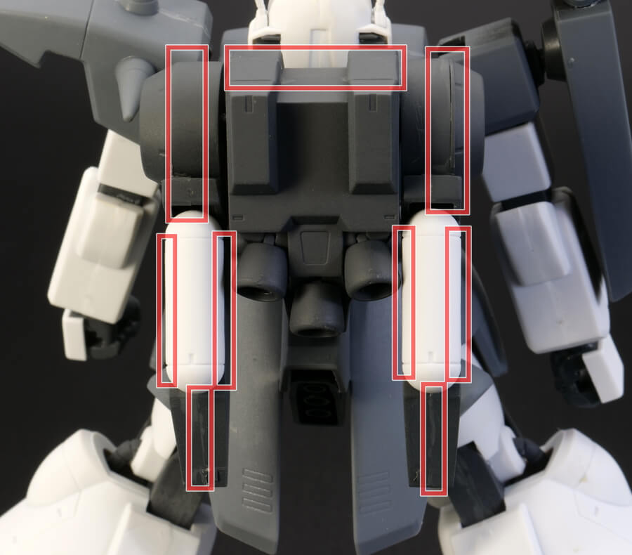 HGUCザクIII(ザク3)のガンプラレビュー画像です