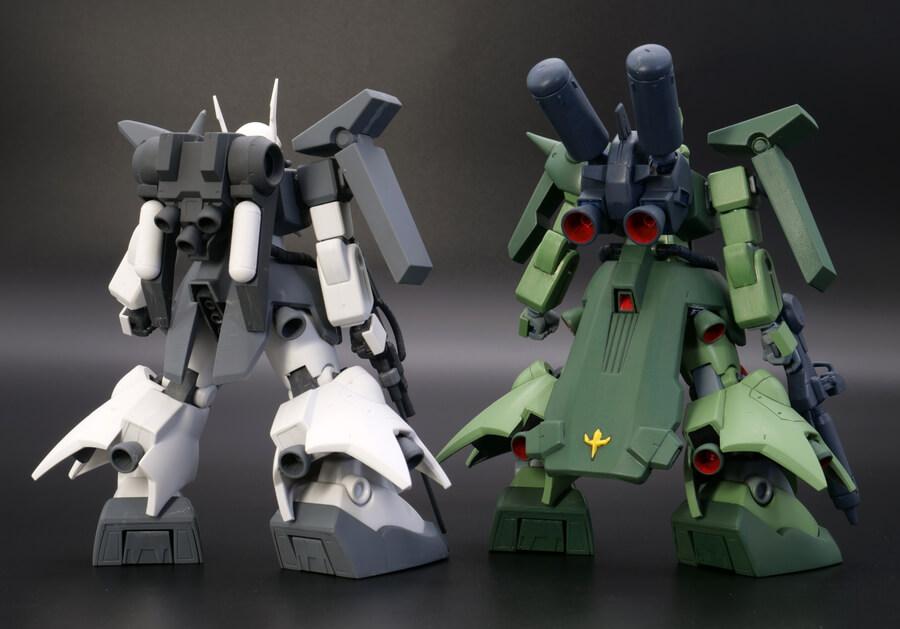 HGUCザクIII(ザク3)とザクIII改の違い・比較ガンプラレビュー画像です