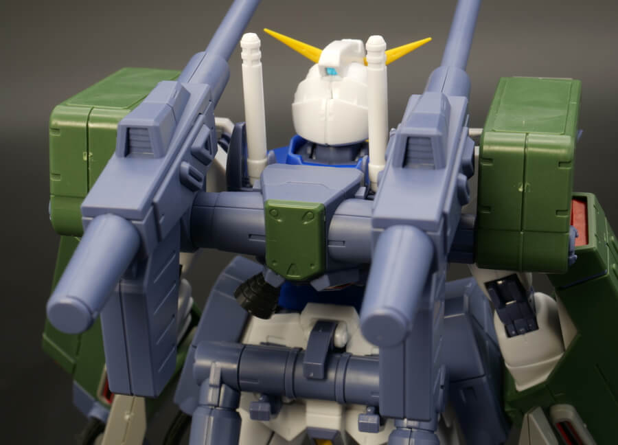 MG ガンダムF90用 ミッションパック Sタイプのガンプラレビュー画像です