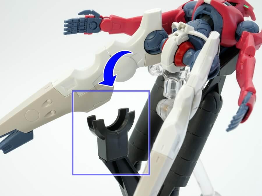 HGマックナイフ(マスク専用機)のガンプラレビュー画像です