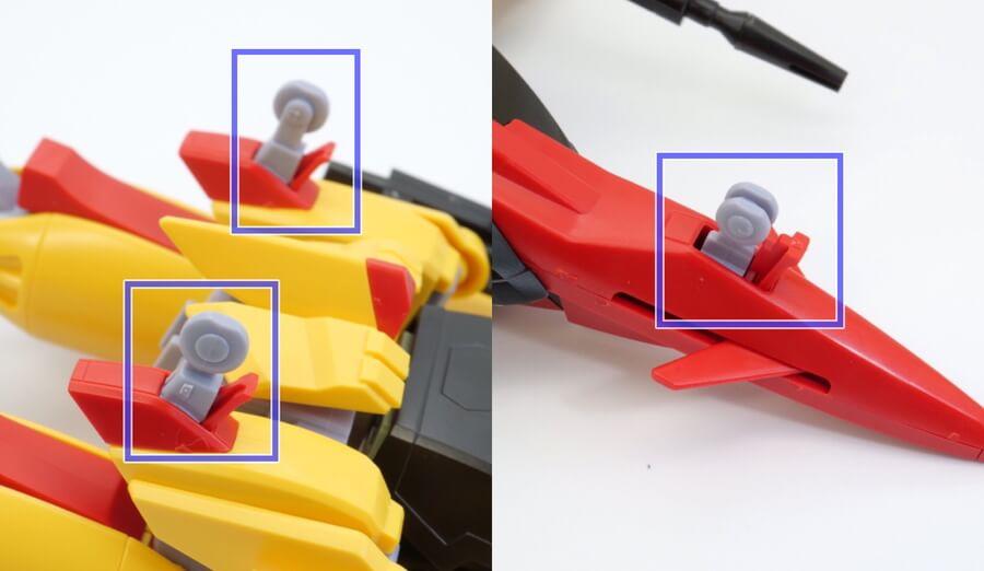 HGムラサメ(アンドリュー・バルトフェルド専用機)のガンプラレビュー画像です