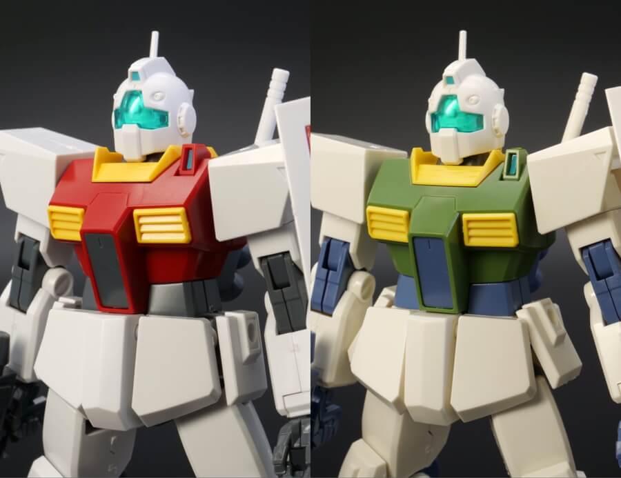 HGUCジムIIとエゥーゴカラーの違い・比較ガンプラレビュー画像です