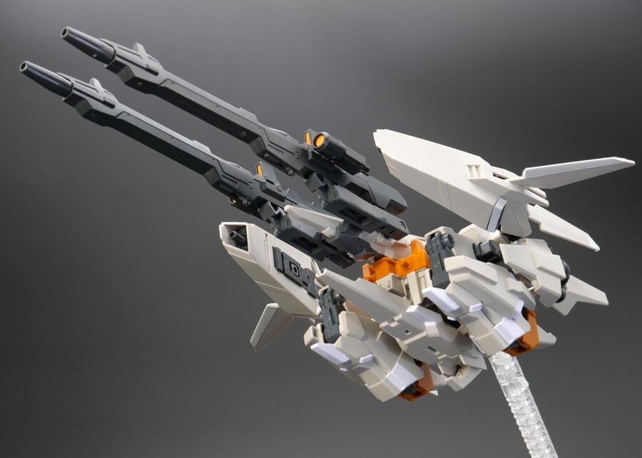 HGUC リゼルC型(ディフェンサーbユニット/ゼネラル・レビル配備機)のガンプラレビュー画像です