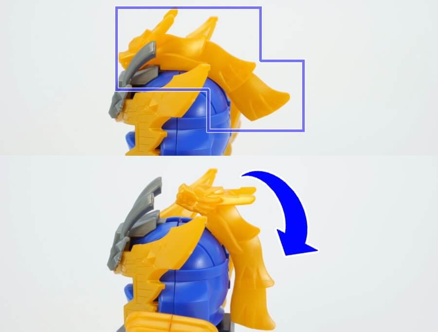 馬謖(バショク)ガンダムのガンプラレビュー画像です