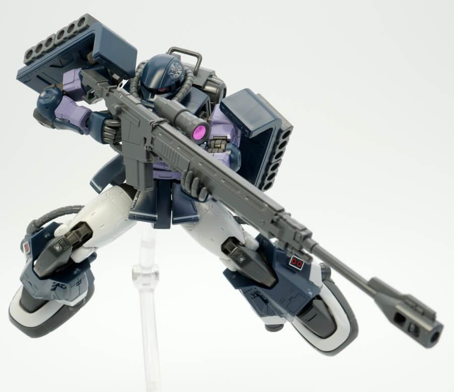 HG高機動型ザクII(ガイア/マッシュ専用機)のガンプラレビュー画像です
