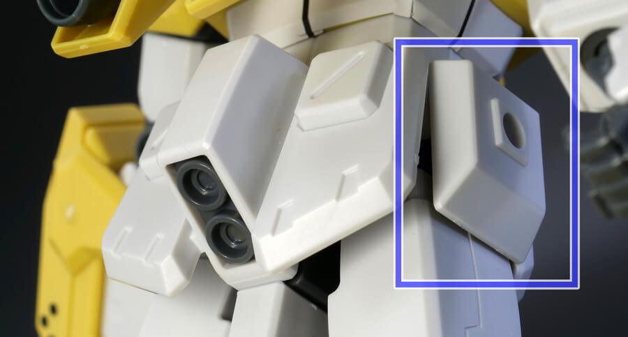 HGBFパワードジムカーディガンのガンプラレビュー画像です